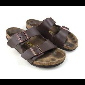 Birkenstock Womens footbed Sandals brown Sz 41